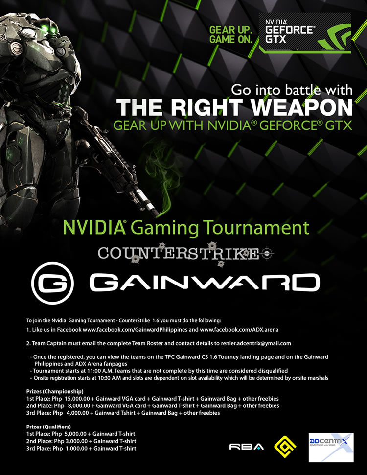 Gainward: nVidia Gaming Tournament on July 28-29, 2012